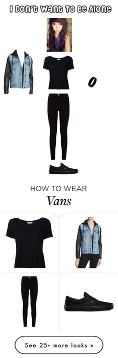 """Alone"" by giacozz on Polyvore featuring BLANKNYC, Frame, 7 For All Mankind, West Coast Jewelry and Vans"