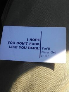 Found this on a windshield…