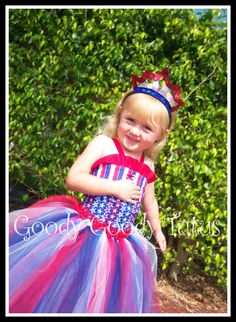 LITTLE MISS INDEPENDENCE 2pc Patriotic Tutu and by goodygoodytutus, $65.00
