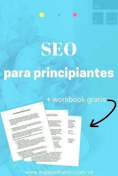 SEO para principiantes + workbook gratis