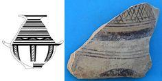 MURO LECCESE MESSAPICA - CUNELLA - Olla japigia (fine VIII - VII secolo a.C.).