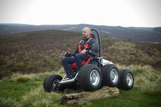 HexHog All-Terrain Off-Road Wheelchair. If I ever have to be in a wheelchair this is the one I want.