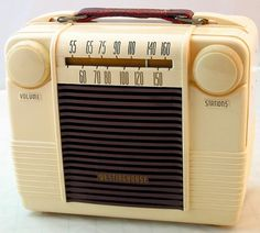 Westinghouse portable radio from 1950...so much cuter than anything they make these days.