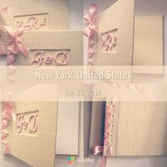 Summer weddings is in full swing and I've noticed that burlap is still a popular theme but also fancy font styles and soft pink. These 2 Guestbooks demonstrate the theme of the season with the option in ivory pages or white pages. #etsyaddict #handmade #handmadegifts #bridalseason #shophandmade #brideandgroom #honeymoons #supporthandmade #supportsmallbusiness #etsyweddings #weddings #michelleworldesigns #buyfromwomen #june #summerweddings #rusticweddings
