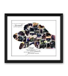 Your own Dogs Head Silhouette Memorial Rainbow Bridge Pet loss