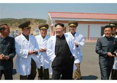 Respected Supreme Leader Kim Jong Un visited the April 22 Thaechon Pig Farm of the Air and Anti-Air Force of the Korean People's Army. Pig Farming, Korean People, Air Force