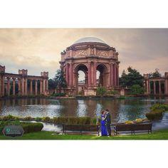 San Francisco Palace of Fine Arts Engagement Photo #madewithstudio