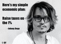 I would vote for President Johnny Depp