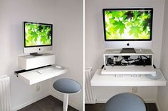 IKEA Hack Desk: Tweaking items to enhance their usefulness makes us happy, so we're smiling at this simple wall desk hack using IKEA products. Since the shelves used in this DIY are no longer available, what would you repurpose to get a similar final workstation? (via IKEA Hackers)