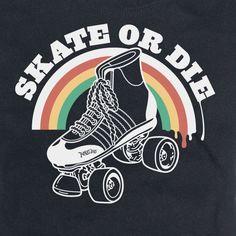 skate or die Roller Derby Skates, Roller Derby Girls, Quad Skates, Roller Skating, Skating Rink, Illustration Photo, Illustrations, Derby Names, Ames Bros