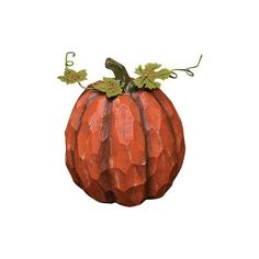 CWI Fall Halloween Decor Large Resin Pumpkin ($15) ❤ liked on Polyvore