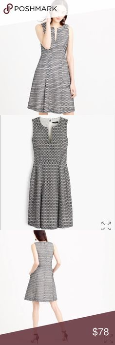 "🖤J. CREW🖤 CONTRAST EYELET DRESS🖤 The prettiest fit-and-flare eyelet dress with faded black embroidery stitching—you know, for all those springtime brunches (and walks in the park, and twirling. 100% Cotton. Back hidden zip. 😍POCKETS 😍 Fully Lined. Machine wash. Measurements taken flat  bust 19"" waist 15 1/2"" length 35 1/2. J. Crew Dresses Midi"