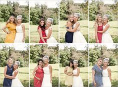 Love the collage of the individual bridesmaid/bride pics and, of course, the dresses :)