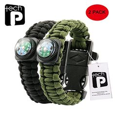 Preppers may not be known for the fashion sense, but bracelets can mean the difference between life and death. Paracord survival bracelets, that is. Each bracelet is made with between eight and twenty feet of woven paracord, which can be taken apart and used in various survival situations. Did we mention you can store essential