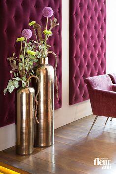 Real Craftmanship Characterizes The Stylish Floor Vases GLAZE From Fleur  Ami · Beautiful Unique Pieces · Noble Antique Gold Finish ▫ Echte  Handwerkskunst ...