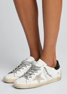 They look pretty rad but not sure about that price tag! Sneakers Outfit Summer, Sneakers Fashion, Pretty Shoes, Golden Goose, Leather Sneakers, Sport, Me Too Shoes, Superstar, High Top Sneakers