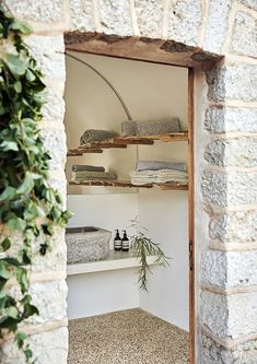 Dream House in Mallorca ~ Stace King Aging Wood, Mediterranean Homes, Stone Houses, Scandinavian Interior, Decoration, Interior And Exterior, Ladder Decor, Contemporary Design, Interior Decorating
