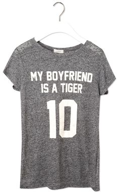 My boyfriend is a tiger Printed Shirts, Tee Shirts, Tees, Tiger T Shirt, Pull N Bear, Bear Print, My Boyfriend, What To Wear, Cool Outfits