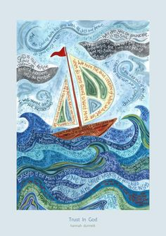 Hannah Dunnett - debut exhibition in 2011 so relatively new artist but her work is rapidly growing in popularity.  Christian art incorporating words from scripture.