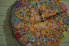 Colorful Paper Quilled Clock