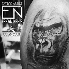 silverback tattoo. Realism. Gorilla. #tattoo #tattoos #silverback #gorilla #animal #wildlife #wild #erkannehir