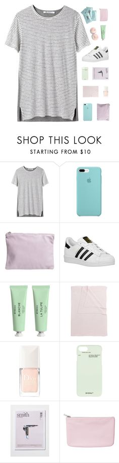 """""""leave the what if ♡"""" by w-anderess ❤ liked on Polyvore featuring T By Alexander Wang, BAGGU, adidas Originals, Byredo, Tartine et Chocolat, Christian Dior, Off-White and Monki"""