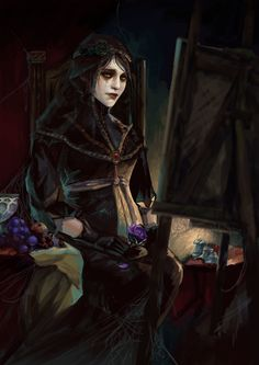 Witcher 3 Art, The Witcher Game, The Witcher Books, Witch Characters, Dungeons And Dragons Characters, Dark Fairytale, Medieval Fantasy, Dark Fantasy, Fantasy Art