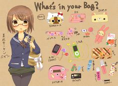 what's in your bag - illustrations
