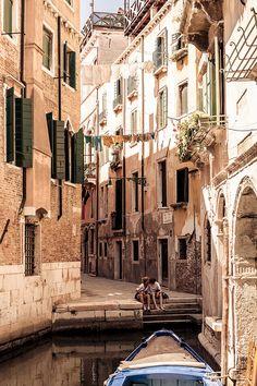 Romanticos callejones en Venecia