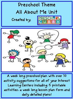 All About Me Preschool Theme Resource with over 30 activities for a full week long theme!