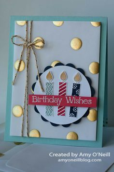 Gold Dots and Birthday Candles