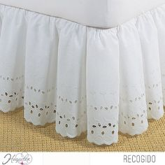 Give your bed a romantic makeover with this stylish ruffled heirloom bed skirt. This cotton bed skirt has an alluring eyelet pattern that lends country charm to your bedroom and is available in two colors to match your existing bedding. Under Bed Storage, Big Girl Rooms, Cotton Bedding, Girls Bedroom, Bedrooms, Shabby Chic Style, Quilt Sets, Bed Covers, Bed Spreads
