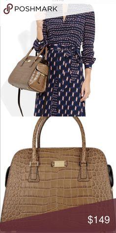 924fc2b997bc Michael Kors Gia Croc Leather Satchel Large satchel- comes with dust bag