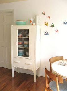 Make bird silhouettes from vintage wallpaper