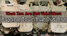 What You Are Not Told When Buying Your Bug Out Bag TheSurvivalPlaceBlog