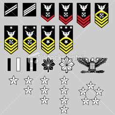 US Navy Rank Insignia. Vector set of US Navy officer and enlisted rank insignia, , Navy Sister, Navy Girlfriend, Navy Mom, Us Navy Rank Insignia, Navy Ranks, Military Ranks, Military Insignia, Go Navy, Army & Navy