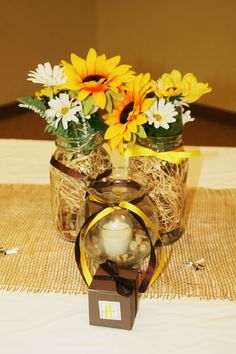 Table center pieces. Easy to make!