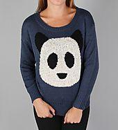 Panda Sweater w/sequin Urban Planet, Panda, Sequins, Graphic Sweatshirt, Sweatshirts, Sweaters, Clothes, Fashion, Outfits