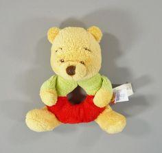 Doudou anneau hochet velours ours Winnie Disney Baby