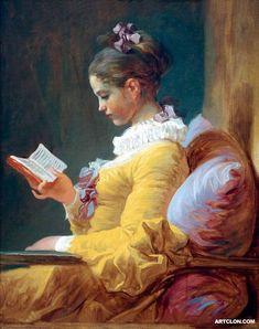 A Young Girl Reading, 1776, Jean Honore Fragonard, National Gallery of Art, Washington, DC