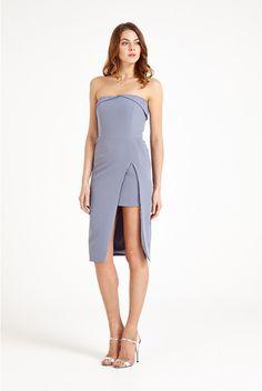 Lavish Alice Thigh High Insert Split Dress