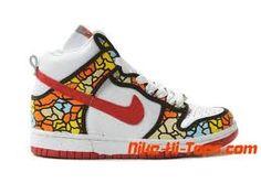promo code 56e90 4d88e Nike Dunks High White Orange Blue Yellow Black Red For Women
