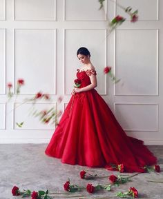 Prom Queen Red Gown Couture Designs by Maizy Colleen IG: @MaizyColleen