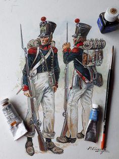 Waterloo, fucilieri giovane guardia