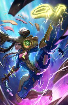 Some fanart of one of my favourite Nintendo characters! Nintendo Characters, Video Game Characters, Metroid Samus, Metroid Prime, Character Art, Character Design, Zero Suit Samus, Super Metroid, Pokemon Games