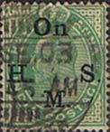 India 1902 King Edward VII On H M S SG O56 Fine Used SG O56 Scott O38 Other British Commonwealth Empire and Colonial stamps Here