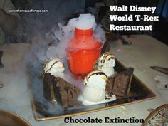 Chocolate Extinction at T-Rex Restaurant at Downtown Disney Marketplace #DisneyDining #DowntownDisney