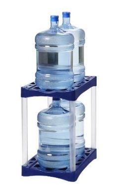 4 Bottle Water Bottle Storage Rack by DS Waters… 5 Gallon Water Bottle, Water Bottle Storage, Water Storage Tanks, Bottled Water, Drinking Water, Water Bottles, Storage Rack, Food Storage, Storage Ideas
