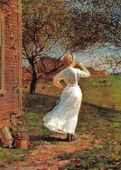 The Dinner Horn~ Winslow Homer~ (My Dad Called Us Back For Supper With A Cow Bell When We Were Young.)