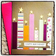 DIY Homemade Birthday Card Idea / Happy Mail / Craft Ideas ♥
